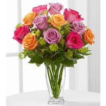 E6-4821 The Pure Enchantment Rose Bouquet by FTD - VASE INCLUDED